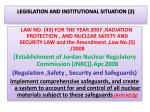legislation and institutional situation 2