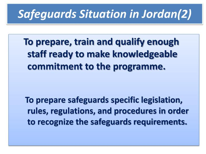 Safeguards Situation in Jordan(2)