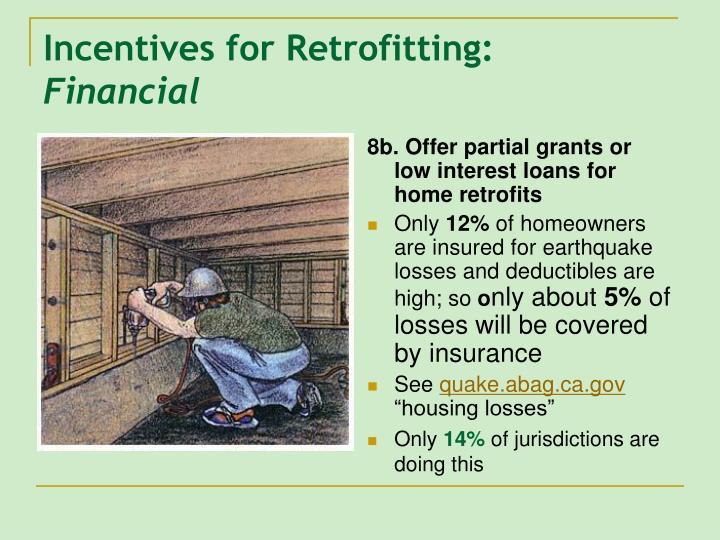 Incentives for Retrofitting:
