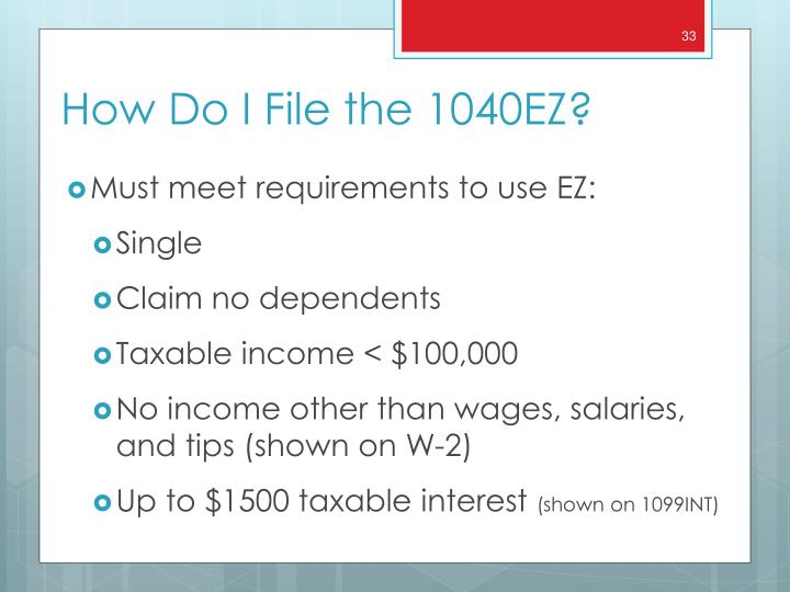 Must meet requirements to use EZ:
