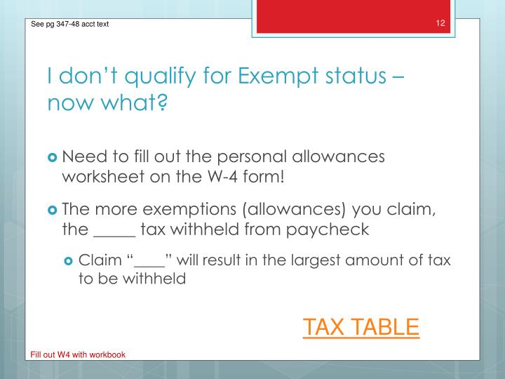 Need to fill out the personal allowances worksheet on the W-4 form!