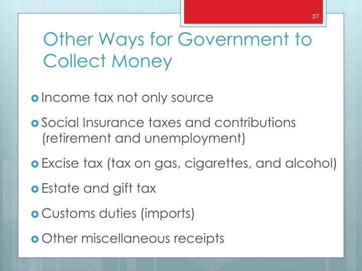 Income tax not only source