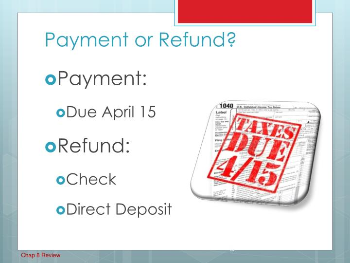 Payment or Refund?
