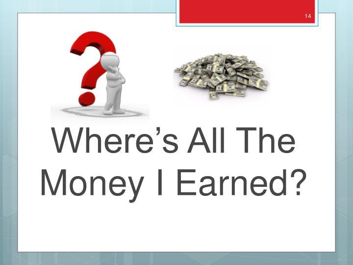 Where's All The Money I Earned?