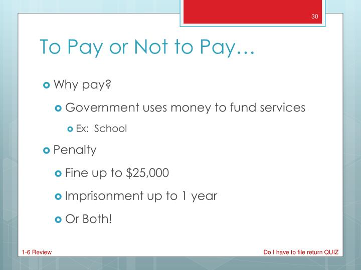 Why pay?