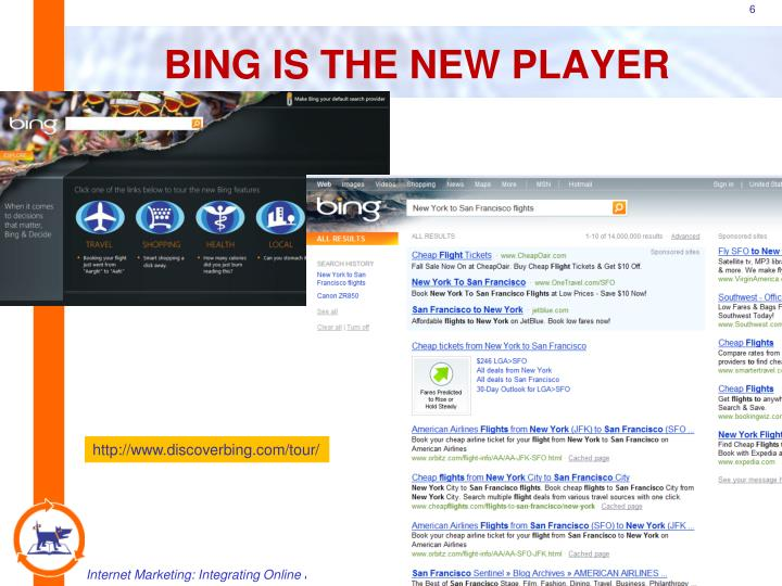 BING IS THE NEW PLAYER