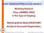 most underappreciated issue ii