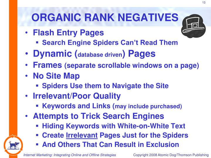 ORGANIC RANK NEGATIVES