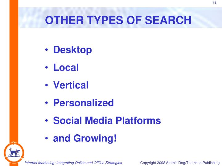 OTHER TYPES OF SEARCH