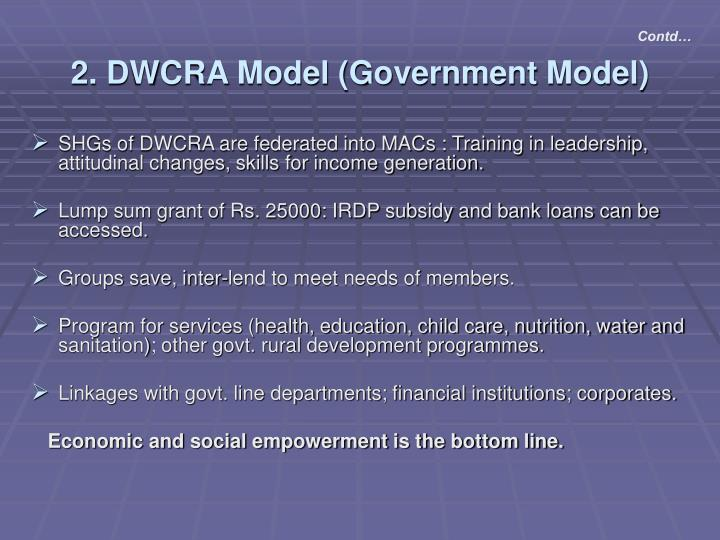 2. DWCRA Model (Government Model)