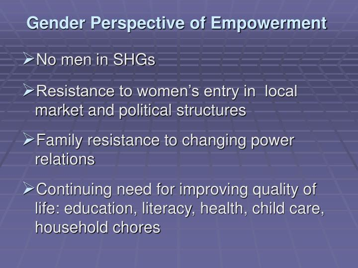 Gender Perspective of Empowerment
