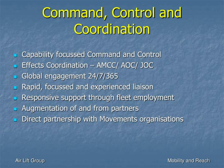 Command, Control and Coordination