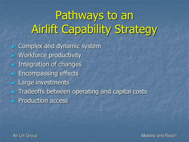 Pathways to an