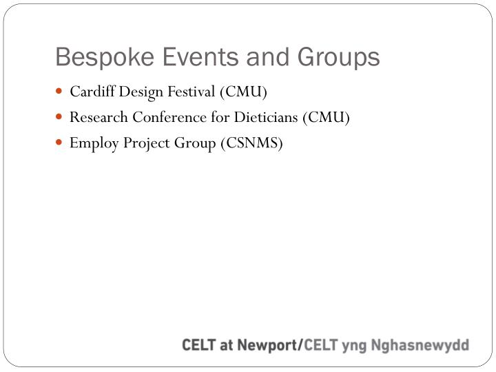 Bespoke Events and Groups
