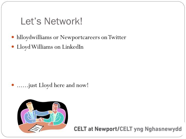 Let's Network!