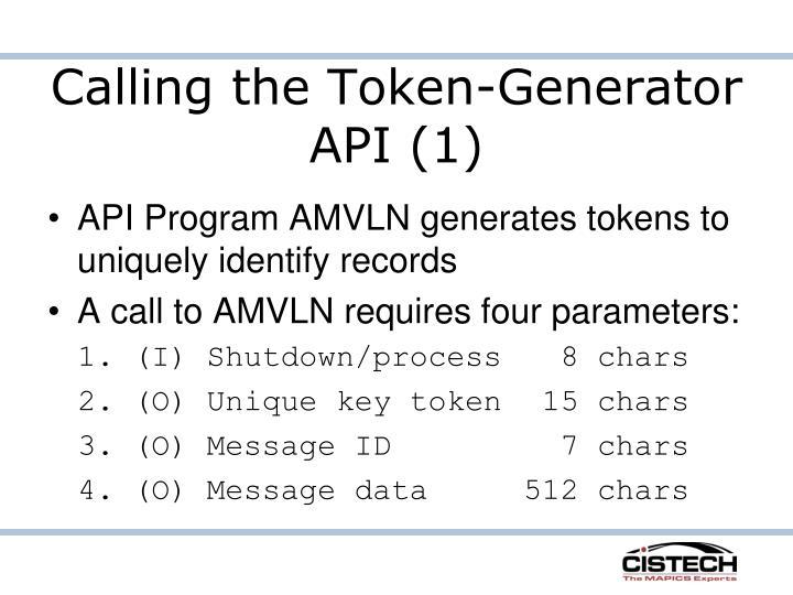 Calling the Token-Generator API (1)