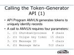 calling the token generator api 1