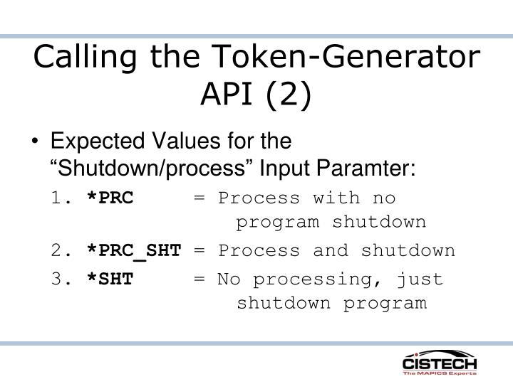 Calling the Token-Generator API (2)