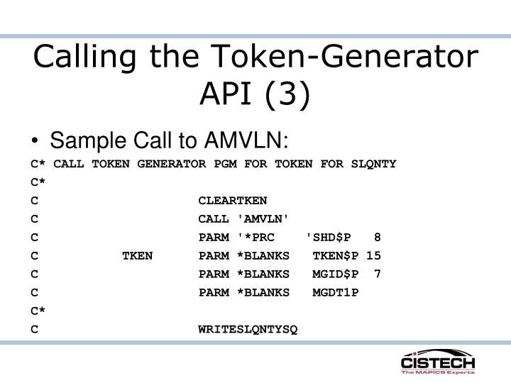 Calling the Token-Generator API (3)