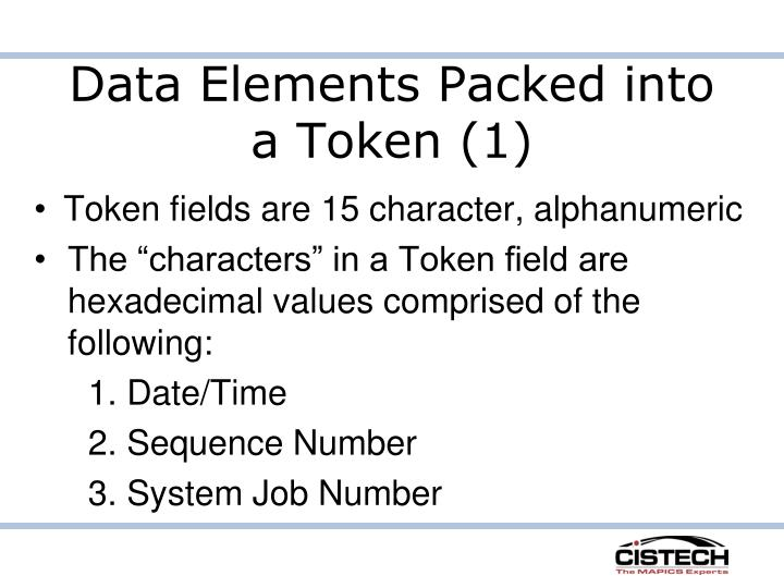 Data Elements Packed into a Token (1)