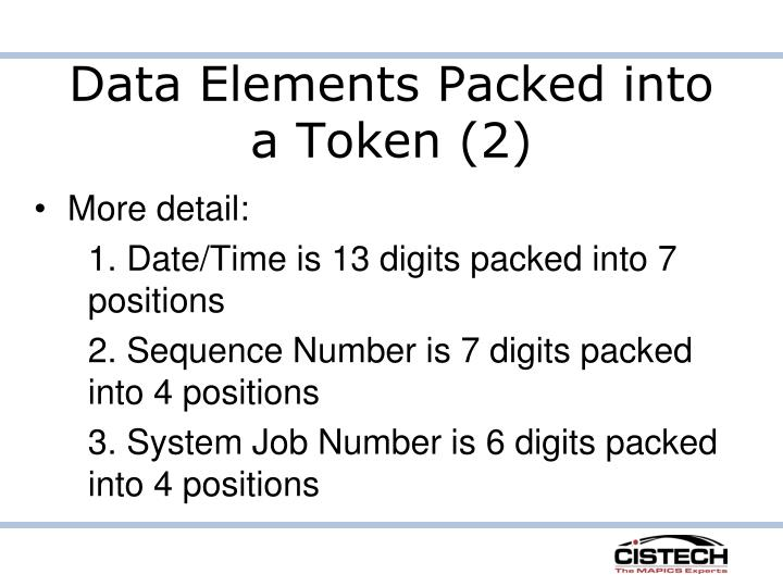 Data Elements Packed into a Token (2)