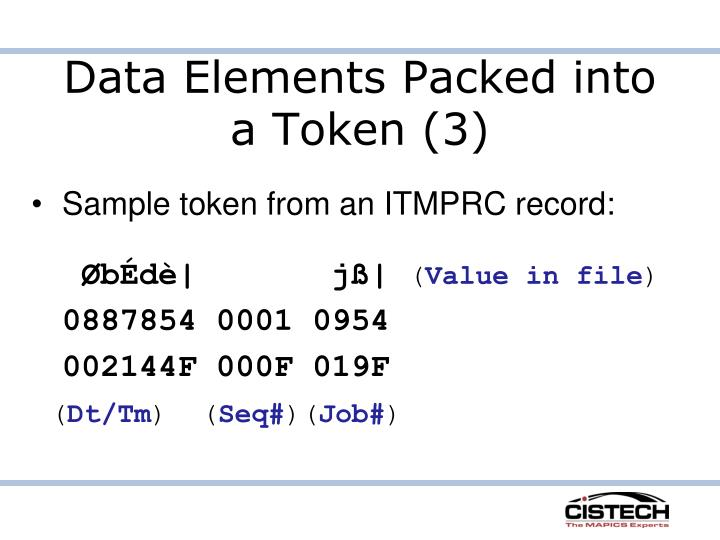 Data Elements Packed into a Token (3)