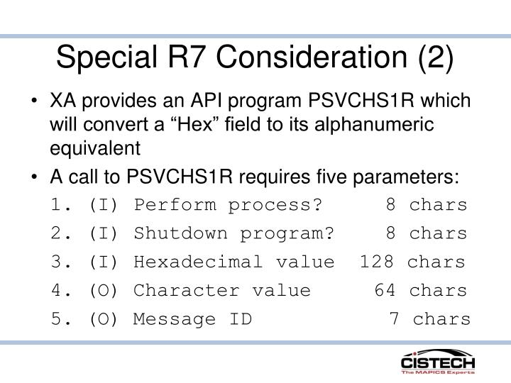 Special R7 Consideration (2)