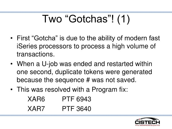 "Two ""Gotchas""! (1)"