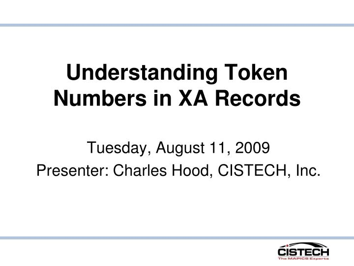 understanding token numbers in xa records