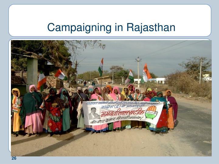 Campaigning in Rajasthan