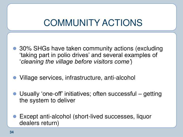 COMMUNITY ACTIONS