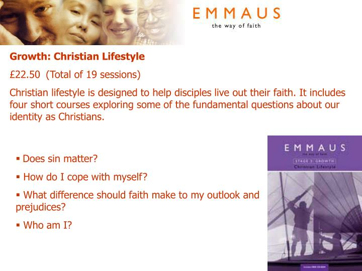 Growth: Christian Lifestyle