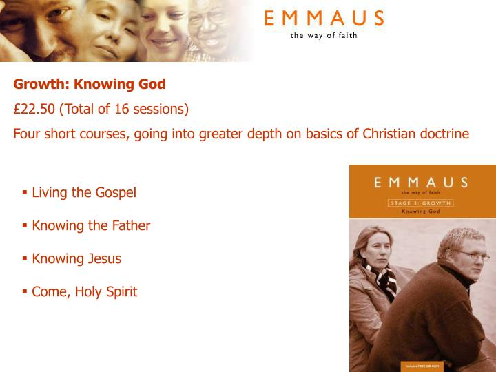 Growth: Knowing God