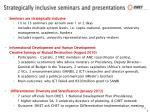 strategically inclusive seminars and presentations