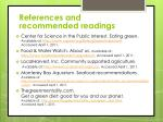 references and recommended readings