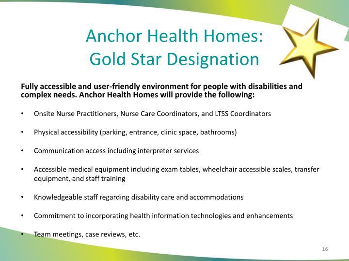 Anchor Health Homes: