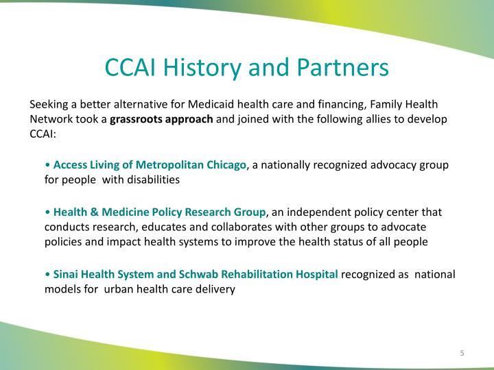 CCAI History and Partners