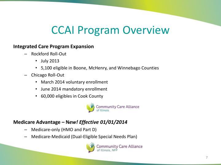 CCAI Program Overview