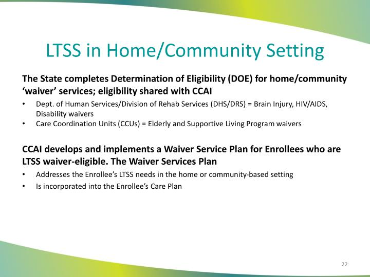 LTSS in Home/Community Setting
