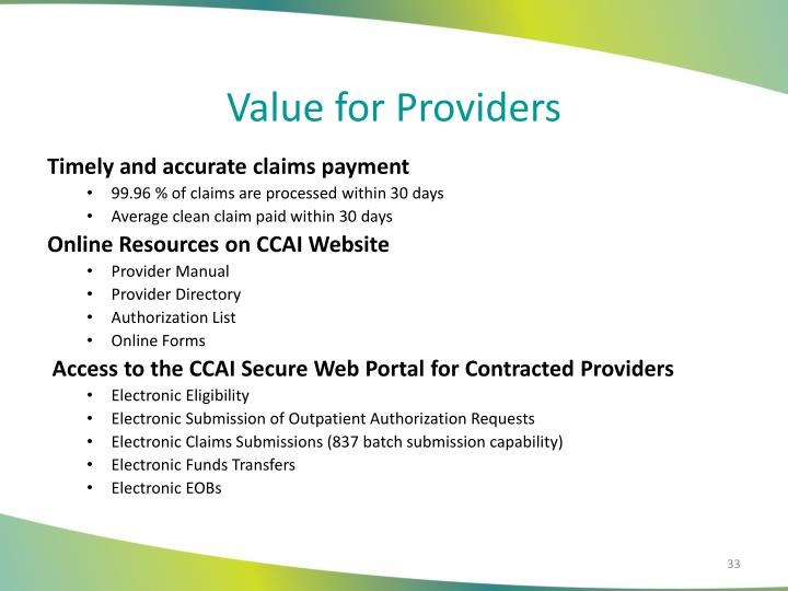 Value for Providers