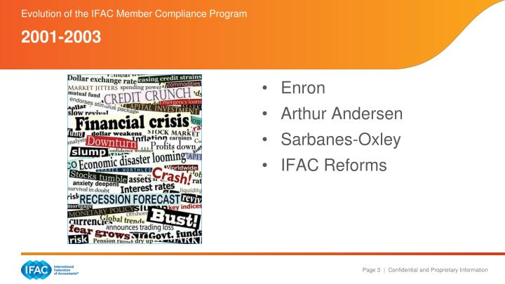 Evolution of the ifac member compliance program