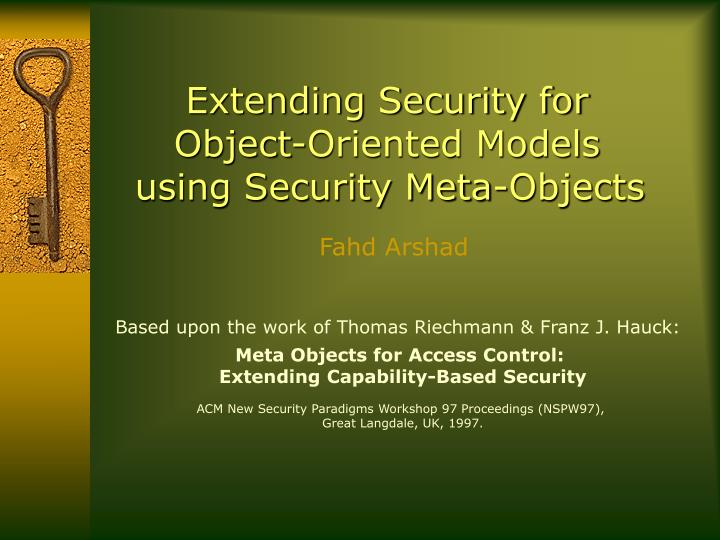 Extending Security for