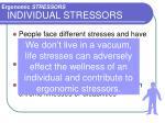 individual stressors