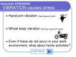 vibration causes stress
