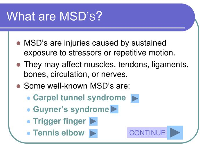 What are MSD'