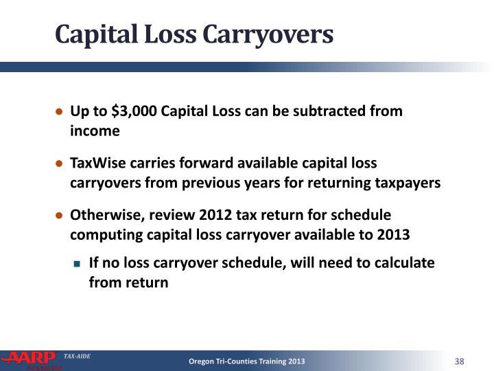 Capital Loss Carryovers