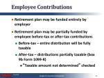 employee contributions