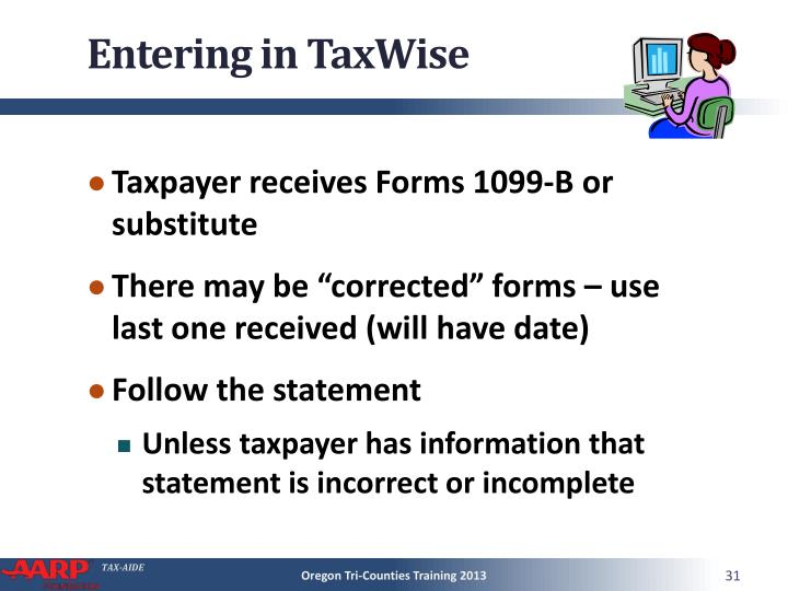 Entering in TaxWise