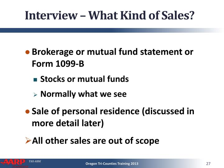 Interview – What Kind of Sales?