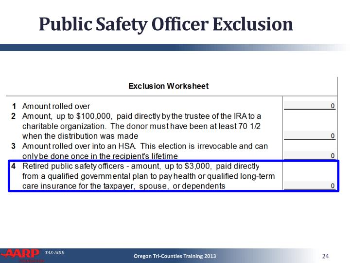 Public Safety Officer Exclusion